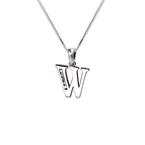 """583-101WW Initial """"W"""" Pendant"""