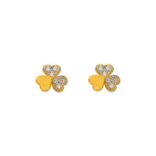 343-135 Clover Pave CZ Stud Earrings