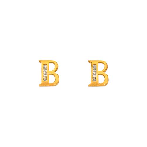 "583-102B Initial ""B"" Stud Earrings"