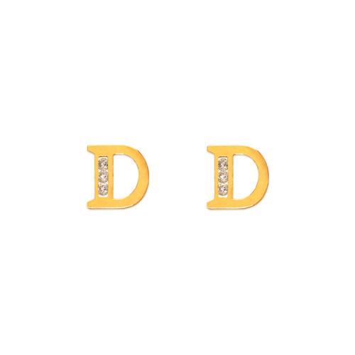 "583-102D Initial ""D"" Stud Earrings"