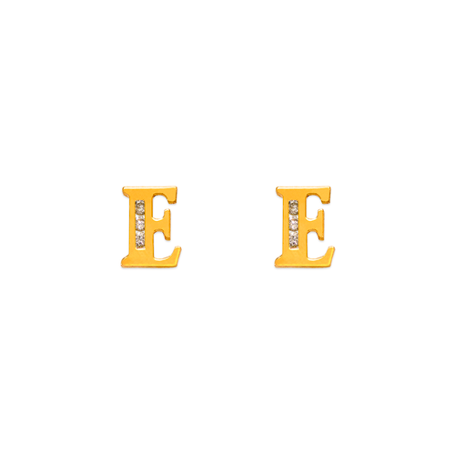 "583-102E Initial ""E"" Stud Earrings"
