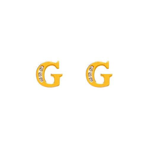 """583-102G Initial """"G"""" Stud Earrings"""
