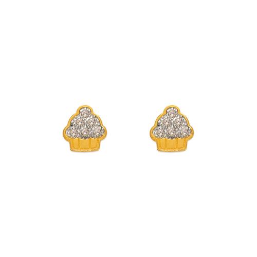 343-136 Cupcake Pave CZ Stud Earrings