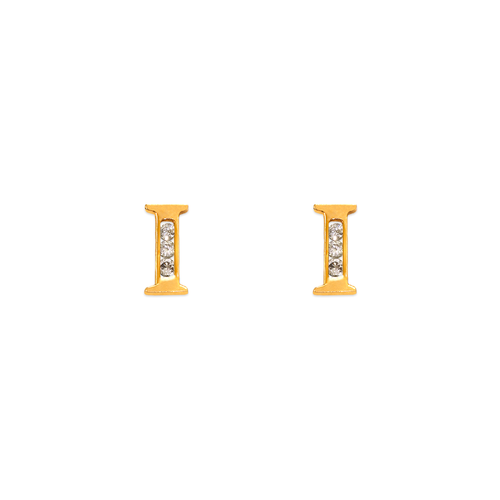 "583-102I Initial ""I"" Stud Earrings"