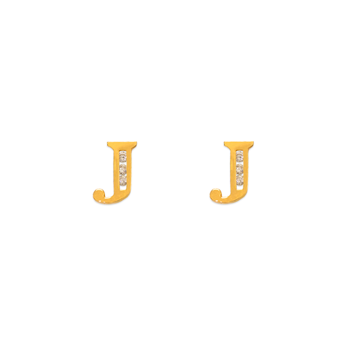 "583-102J Initial ""J"" Stud Earrings"