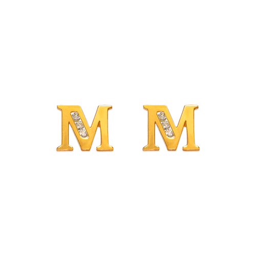 """583-102M Initial """"M"""" Stud Earrings"""