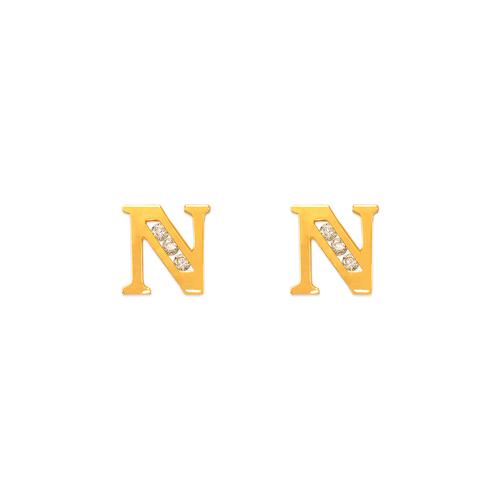"""583-102N Initial """"N"""" Stud Earrings"""