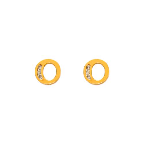 "583-102O Initial ""O"" Stud Earrings"