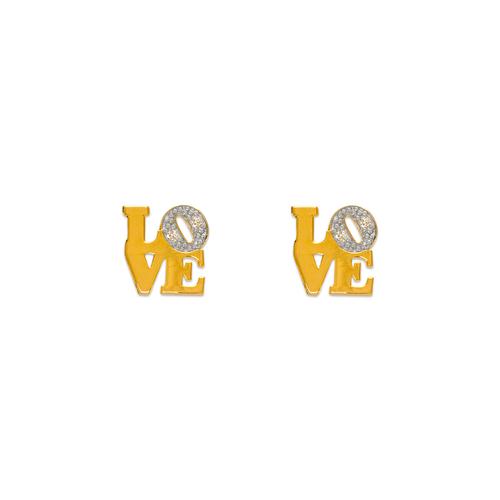 343-137 Love Pave CZ Stud Earrings