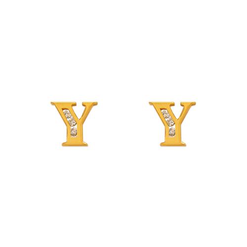 """583-102Y Initial """"Y"""" Stud Earrings"""