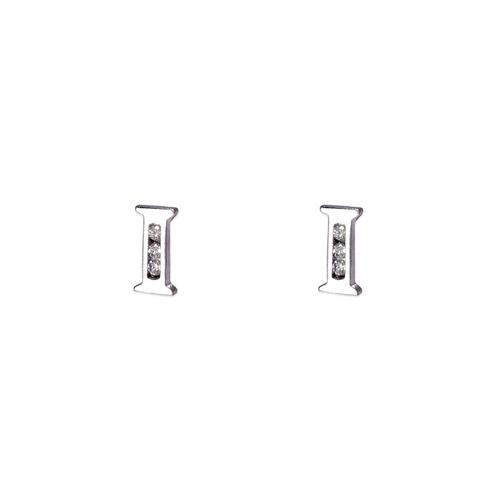 "583-102WI Initial ""I"" Stud Earrings"