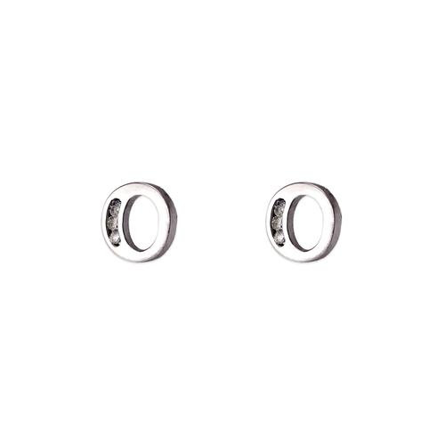 "583-102WO Initial ""O"" Stud Earrings"