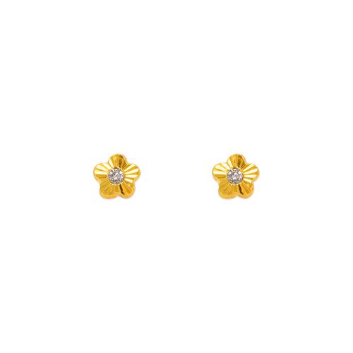 343-202 Mini Flower CZ Stud Earrings