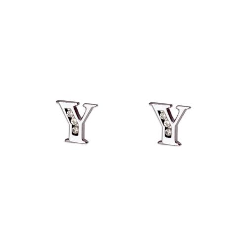 """583-102WY Initial """"Y"""" Stud Earrings"""
