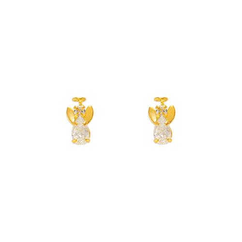 343-204 Mini Angel CZ Stud Earrings