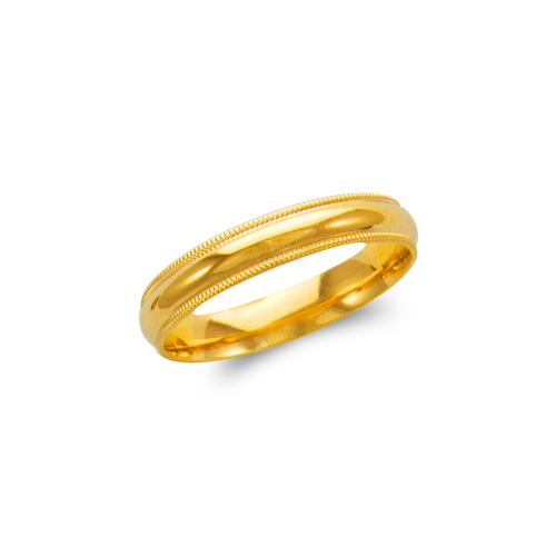 579-012 Milligrain Wedding Band 4mm