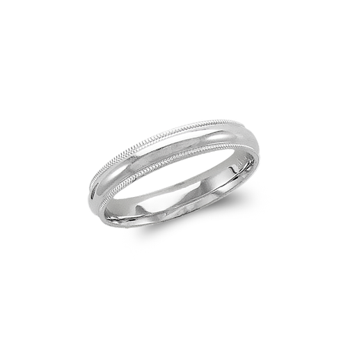 579-012W 4mm Milligrain White Wedding Band