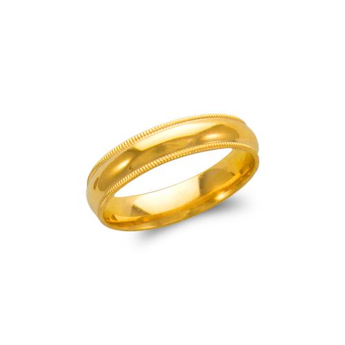 579-013 Milligrain Wedding Band 5mm