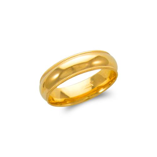 579-014 6mm Milligrain Wedding Band