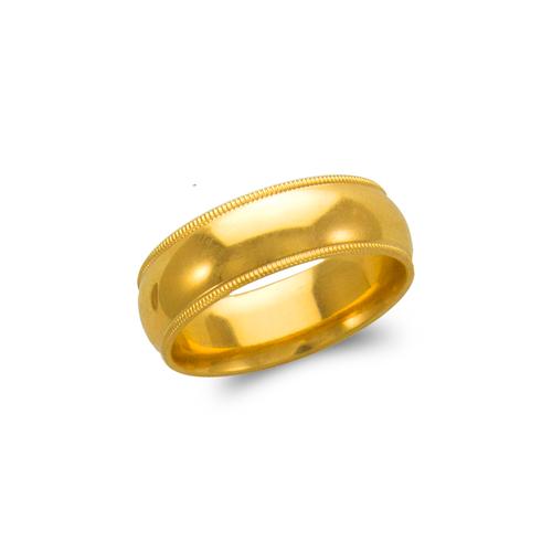 579-015 7mm Milligrain Wedding Band