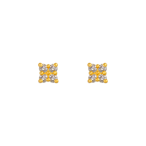 343-205 Square CZ Stud Earrings