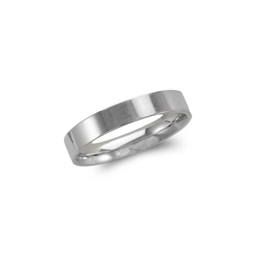 579-033W 4mm Plain White Flat Wedding Band