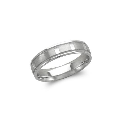 579-202W 5mm Design White Wedding Band