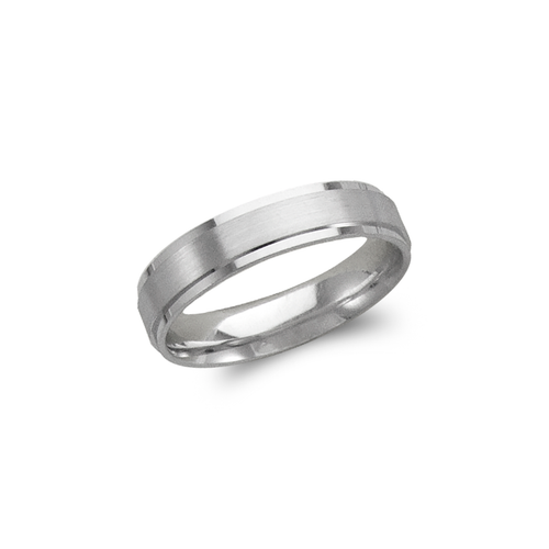 579-206W 5mm Design White Wedding Band