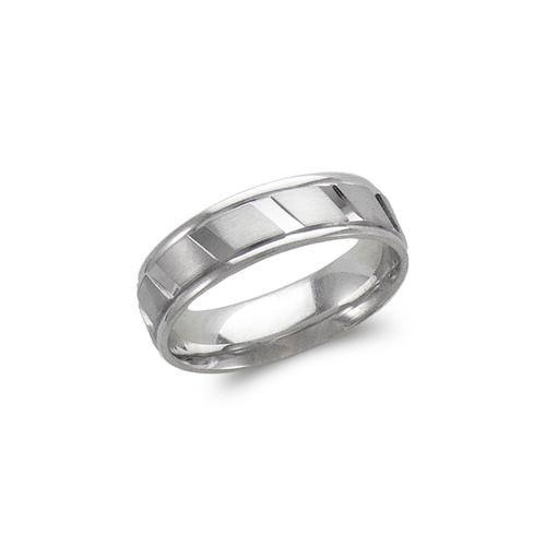 579-301W 6mm Design White Wedding Band