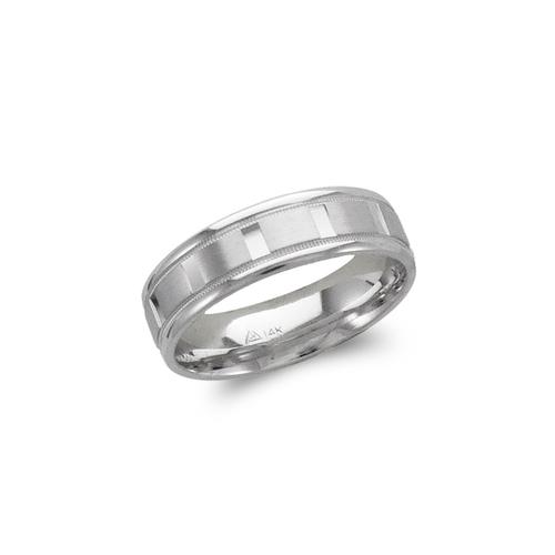 579-302W 6mm Design White Wedding Band