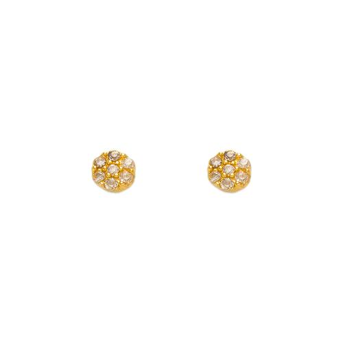 343-208 Flower CZ Stud Earrings