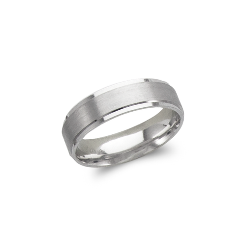 579-306W 6mm Design White Wedding Band