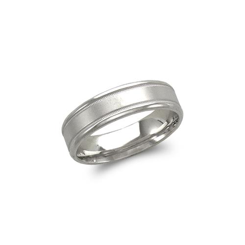 579-307W 6mm Design White Wedding Band