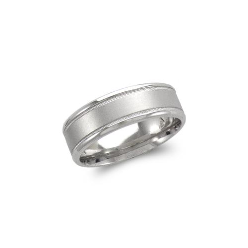 579-407W 7mm Design White Wedding Band