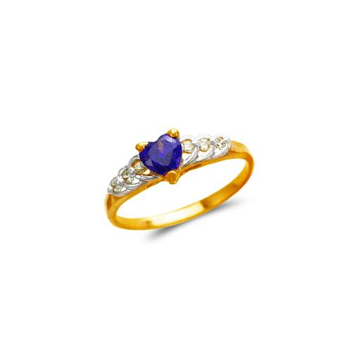 673-004 Ladies Heart CZ Ring