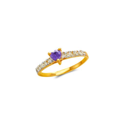 673-009 Ladies Heart CZ Ring