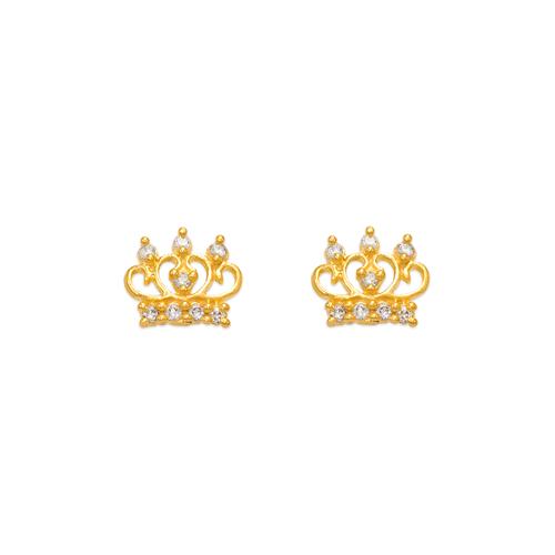 343-211 Tiara CZ Stud Earrings