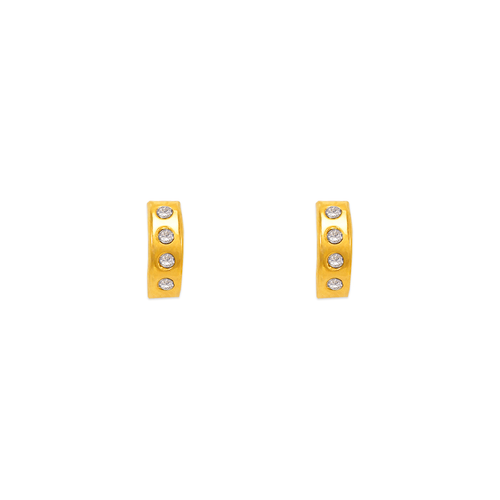 343-212 Medium Huggies CZ Stud Earrings