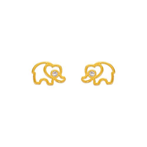 343-214 Elephant Silhouette Stud Earrings