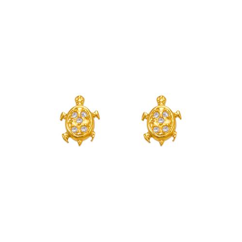 343-217 Turtle CZ Stud Earrings