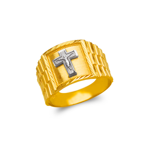 577-104 Men's Jesus Cross Ring