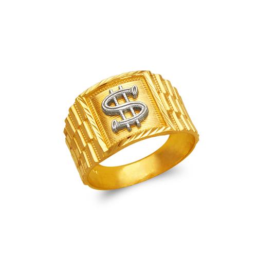 577-107 Men's Dollar Sign Ring