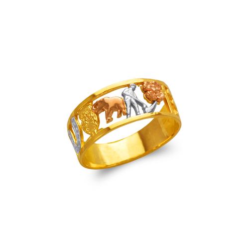 577-204 Ladies Goodluck Filigree Ring