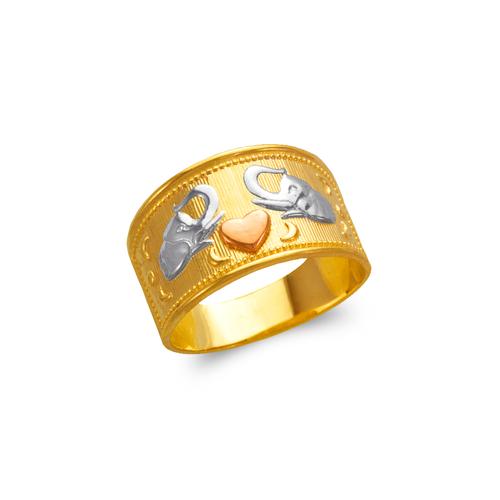 577-217 Ladies Heart and Elephants Filigree Ring
