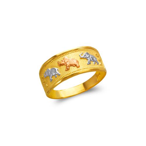 577-219 Ladies Heart and Elephants Filigree Ring