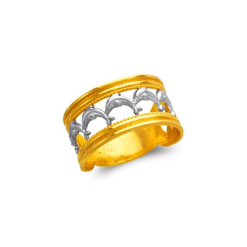 577-223 Ladies Dolphin Filigree Ring
