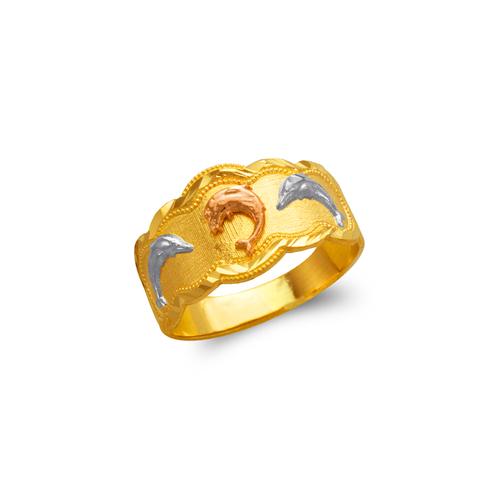 577-224 Ladies Dolphin Filigree Ring