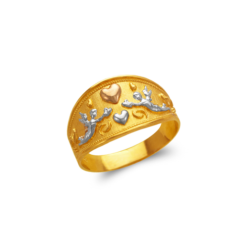 577-228 Ladies Heart and Cupids Filigree Ring