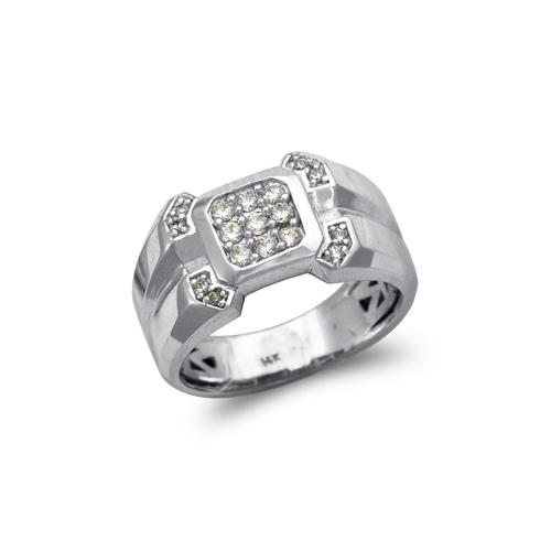 679-009W Men's White Cluster CZ Ring