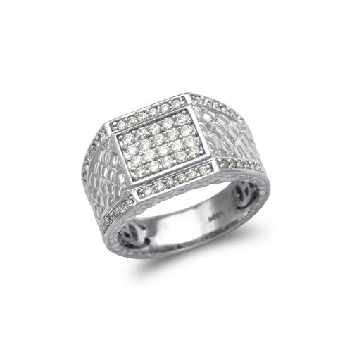 679-012W Men's White Cluster CZ Ring